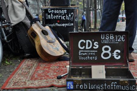 Straßenmusik auf offener Bühne